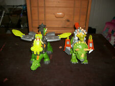 Fischer-Price Imaginext Lot Dino Riders Dinosaurs with Armor, Figures