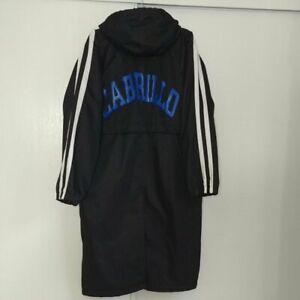"""""""CABRILLO"""" Speedo Nylon Twill Micro Fleece Solid Splice Swim Parka Unisex Black"""