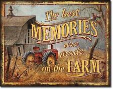 Bauernhof Traktor USA Vintage Design Metall Schild