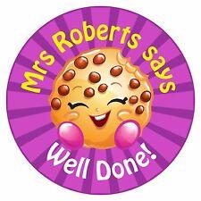80 Pegatinas De Recompensa Profesor Personalizado alumnos Cookie púrpura