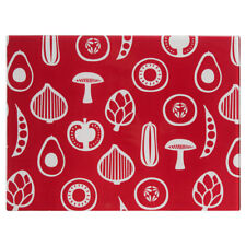 Besa Chopping Board Red Design Glass Food Cutting Worktop Slicing Kitchen