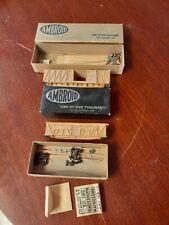Lot of 2 vintage Ho Scale Train Kit W/Box Ambroid wood