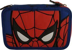 Spiderman Astuccio 3 Zip Completo con colori e accessori Uomo Ragno 57214