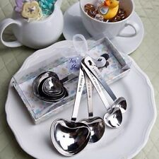 14 Baby Themed Heart Shaped Measuring Spoons Baby Shower Party Gift Favors