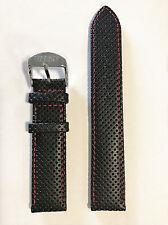 Original Tissot PR 100 Men's 19mm Black Leather Band Strap for T049417