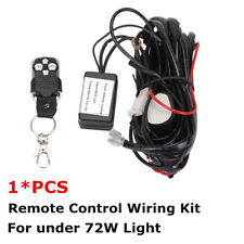 Remote Control Wire Harness Kit Strobe Switch Relay for under 72W LED Work Light