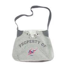 Women's NBA Washington Wizards Hoodie Material Sling Purse Handbag Gray