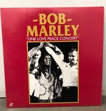 BOB MARLEY ONE LOVE PEACE CONCERT JAPAN LASERDISC PETER TOSH WAILERS