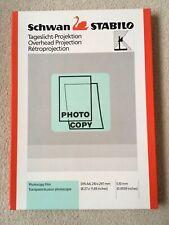 Schwan STABILO Overhead Projector Photocopy Film A4 x 84 sheets