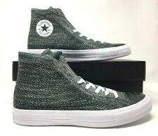 Converse Chuck Taylor All Star HI Flyknit Shoes Teal White 157509C Men's Size 11