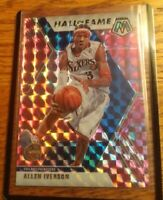 2019-20 Panini Mosaic Allen Iverson Pink Camo Prizm Hall Of Fame #287