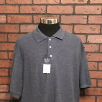 Architect Classic Pique Polo Men's Big And Tall Blue Polo Shirt Size 2X