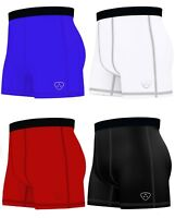 Mens Compression Boxer Shorts Base layers Sports Briefs skin fit gym shorts