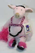 "Manhattan Toy TIPTOES TOUCHE BABETTE Pink Pig Maid Plush Stuffed w/tag 12"" 2003"