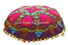 """Vintage Suzani Cushion Cover 16"""" Embroidered Throw Pillow Case Home Decor Pillow"""