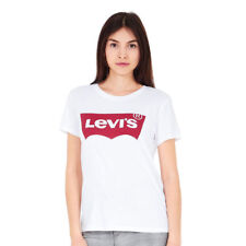 17369-0053, Levis T-Shirt – The Perfect Large Batwing white, Women, 2017, Cotton