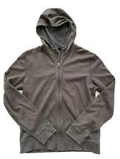Hugo Boss Mens Hoodie Full Zip Jacket Olive Green Small sweatshirt stretch
