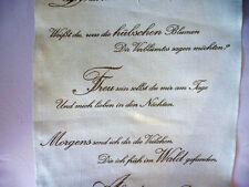 Leinenband 11 fädig Vaupel & Heilenbeck 300mm breit Motiv Gedicht 5161-300