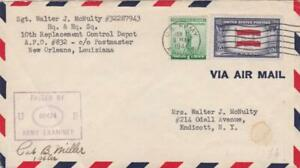 USA  ARMY FORCES COVER 1944 APO 832 CANAL ZONE TO NEW YORK CENSORED