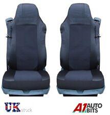 2X BLACK NEW QUALITY SEAT COVERS SET TAILORED FOR MAN TRUCK TGA TGL TGX TGS