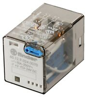 R15 2PDT, 10 A/250V, Non-Latching Relay Plug In, Coil - 24V DC, Finder
