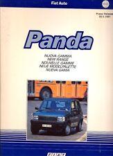 FIAT PANDA NUOVA GAMMA 1991 MERCATO ITALIANO ORIGINALE PRESS KIT Opuscolo
