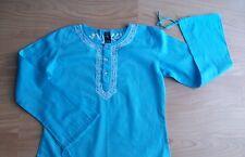 Natura.Blusón mangas largas azul turquesa talla 4/6 muy bonito.