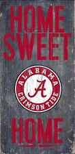 "Alabama Crimson Tide Home Sweet Home Wood Sign - NEW 6"" x 12"" Wall Decoration"