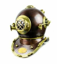 Scuba Diving Nautical Helmet Maritime Ship's Decorative Helmet 18 Inches,Brown