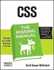 Missing Manual: CSS by David Sawyer McFarland (2006, Paperback)