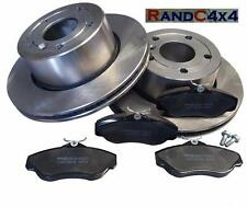 Land Rover Discovery 2 Front Brake Disc Set and MINTEX Brake Pads TD5 V8