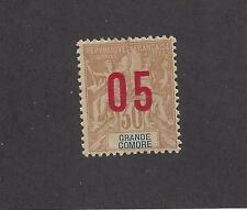 """GRAND COMORO 25a - MH-WIDE SPACING- 1912  - O/P  ON """"NAVIGATION AND COMMERCE"""" -"""