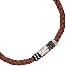 Modeschmuck-Halsketten & -Anhänger aus Leder und Edelstahl für Damen