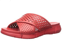 Calvin Klein Whitley Perforated Flat Sandals size 7 Womens  Lipstick Red