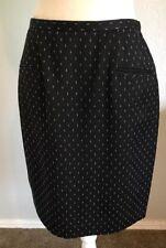 Vintage Norma Kamali Black 100% Wool Skirt Made In USA Size 10