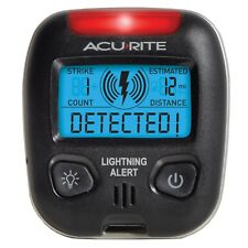 Portable Lightning Bolt Detector Weather Station Detects Storm Alert Sensor New
