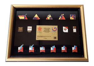 1988 Kodak Seoul Korea Olympic Game 15 Pin Framed Limited Edition Set /5000