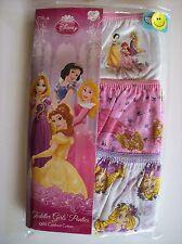 Disney Princess Girls Underwear Underpants 3 Pair Panty Pack Sz 4Toddler  NIP