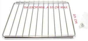 Griglia universale, regolabile ed estensibile per fornetto colore:Cromo 23X23/33