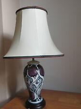 LARGE MOORCROFT LAMP & SHADE  WITH STYLISED FLOWERS