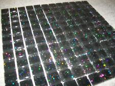 SHEETS OF 144 GLASS MOSAICS 'INFINITY' GLITTER BLACK