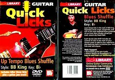 Lick Library Up-Tempo Blues Shuffle BB King Style DVD