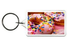 SPRINKLED DONUTS KEYCHAIN - DOUBLE SIDED ACRYLIC FOOD KEYRING