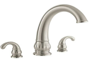 """PRICE PFISTER TREVISO ROMAN 9 5/16"""" LARGE HIGH ARC TUB FAUCET Brushed Nickel"""
