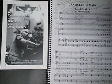 Dave Brubeck Celebration of the Sacred Providence Singers program & sheet music