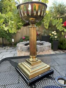 Vintage Hinks & Sons Brass Oil Lamp Base