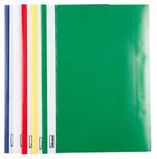 20 PVC Schnellhefter extra stark 4x rot,weiß,grün,schwarz,blau gelocht
