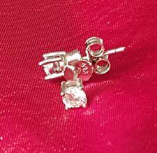56b675d0a Shipton & Co Clear Sterling Silver & Cubic Zirconia Stud Earrings 1/4 Carat  4mm
