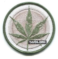 SUBLIME hemp leaf EMBROIDERED IRON-ON PATCH **FREE SHIPPING** p4096 pot weed 420