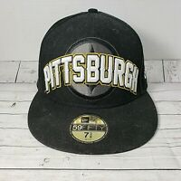 New Era PITTSBURGH STEELERS 59 FIFTY Cap~Hat~Black  7 3/8
